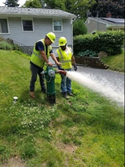 Hydrant flushing for inspection