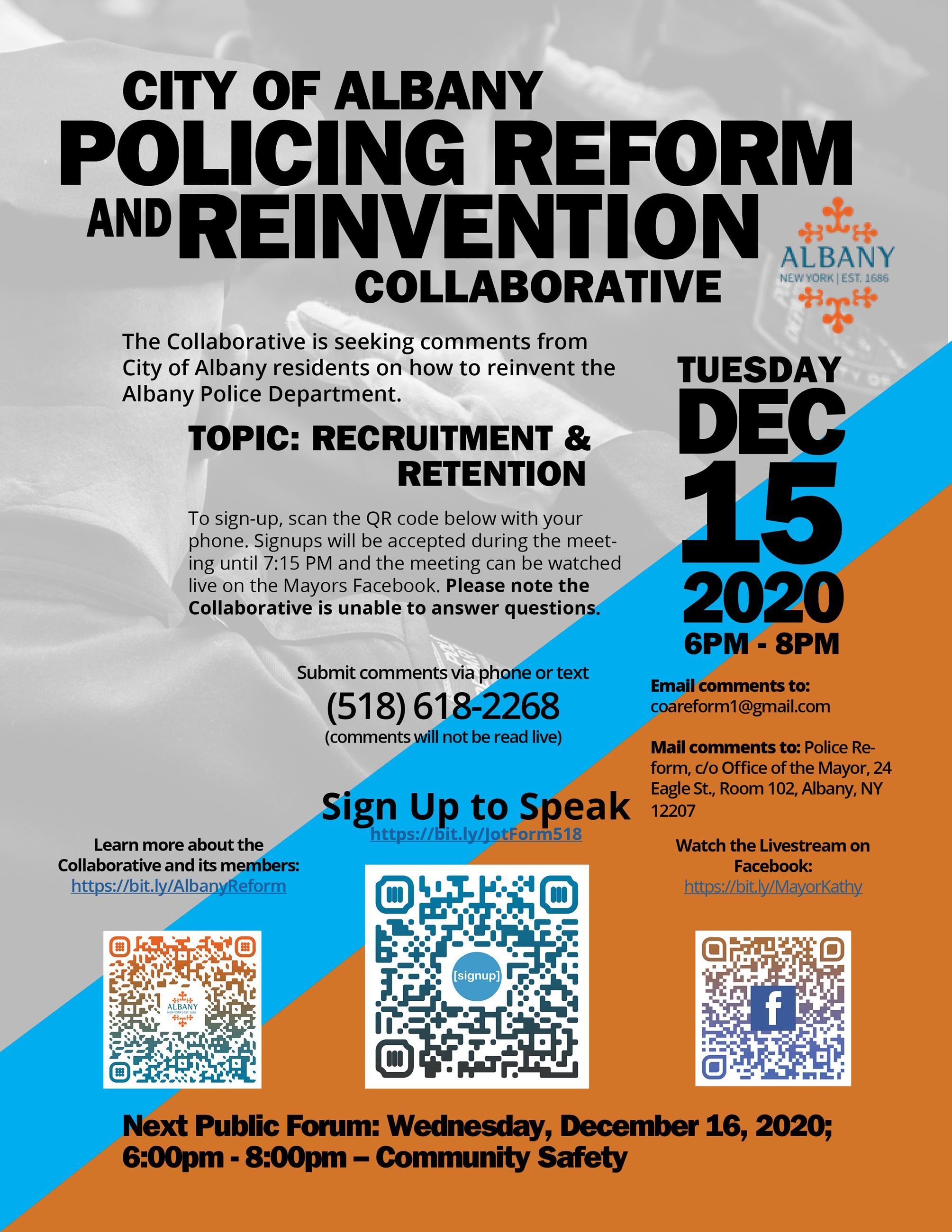 Policing Reform Flyer - Dec 15th