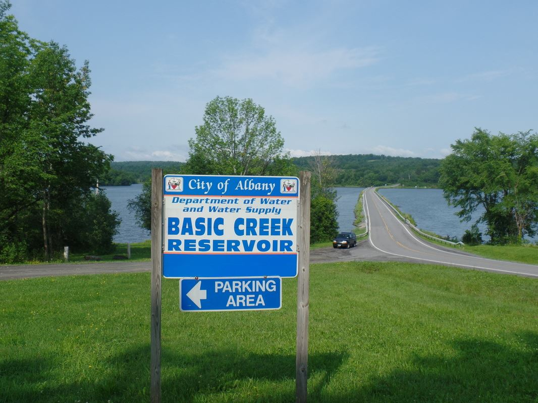 Basic Creek Reservoir sign